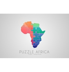 Puzzle Africa Map of Africa Africa logo vector image