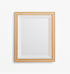 Realistic photo frame with soft shadow vector
