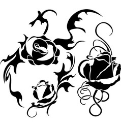 roses tattoo vector image
