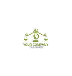 Sd cannabies law firm logo design vector