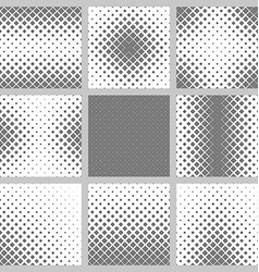 Set monochrome square pattern backgrounds vector