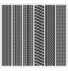 Set of multiple car tire or truck tyre patterns vector