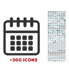 Spiral Calendar Icon vector