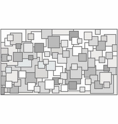 squares in various shades of white background vector image