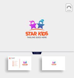 star kids creative idea logo template with vector image