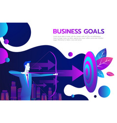 successful businessman hold arrow in hand vector image