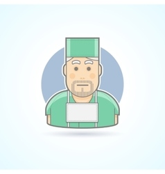 Surgeon medicine doctor icon vector