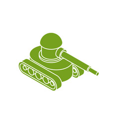 Tank military icon isolated war machine symbol vector