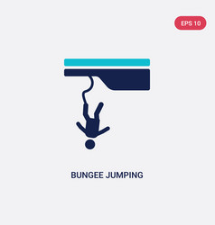 Two color bungee jumping icon from free time vector