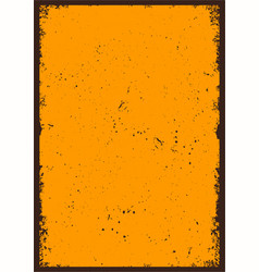 vintage abstract blank orange poster vector image