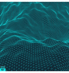 Water Surface Wavy Grid Background vector