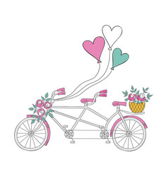 Wedding bike vector