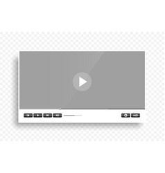 White clean modern video player template design vector