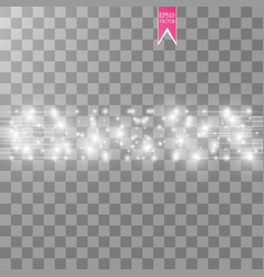 white glitter wave abstract vector image
