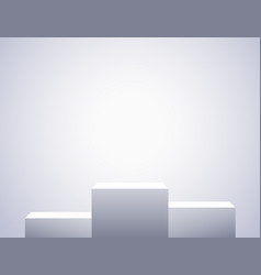 white three rectangles empty pedestals simple vector image