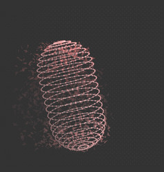 Wireframe mesh cylinder vector