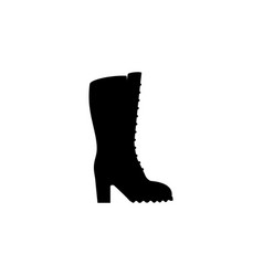 women boots icon black on white background vector image