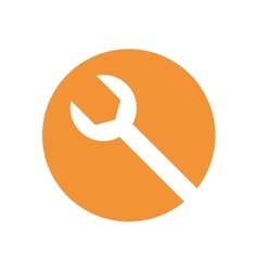wrench tool isolated icon vector image