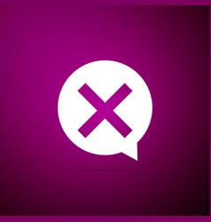 x mark cross in circle icon check cross mark vector image