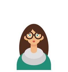 beautiful young woman teacher wearing glasses vector image vector image