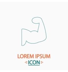 Biceps computer symbol vector