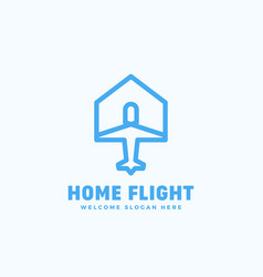 home flight abstract sign emblem or logo vector image vector image