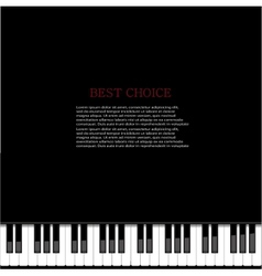 modern piano background vector image
