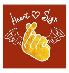 Sign icon symbol hand heart vector image