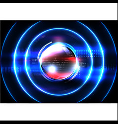 technological global communication signal spread vector image vector image