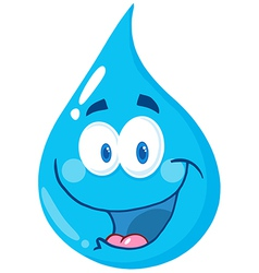 Water Drop Cartoon Character vector image vector image