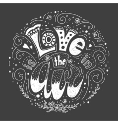 with Love lettering vector image