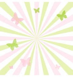 Abstract Spring Butterfly Background vector image