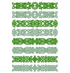 Green celtic ornament elements vector image vector image