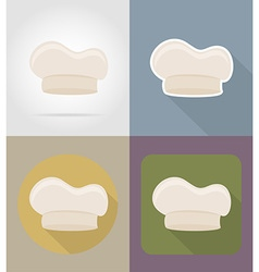 objects for food flat icons 13 vector image