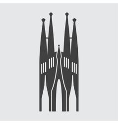 Sagrada Familia icon vector image