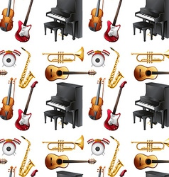 Seamless musical vector image