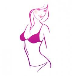 slim women nude vector image vector image