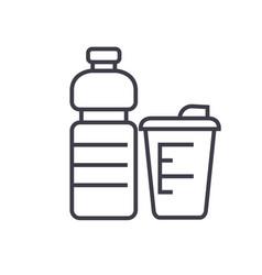 sport food fitness food flat line vector image vector image