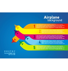 airplane colored list background vector image vector image