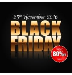 Black Friday 3 vector image