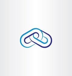 blue chain line icon logo vector image