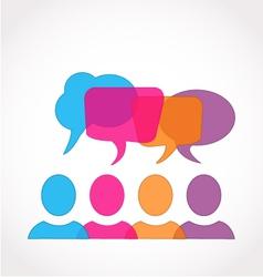 Business social media speech symbol vector image