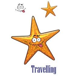 Cartoon ocean starfish character vector image vector image