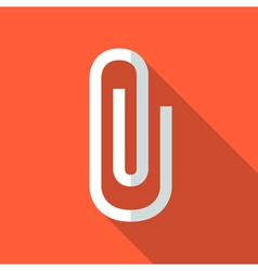 Colorful paper clip icon in modern flat style with vector image vector image
