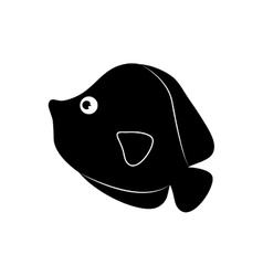 Marine fish cartoon vector image vector image