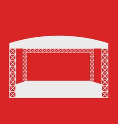 outdoor rock concert flat icon or logo template vector image vector image