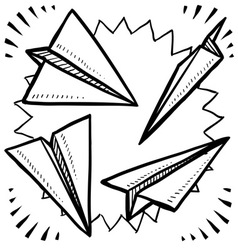Paper planes vector image vector image