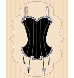 sexy vintage corset vector image vector image