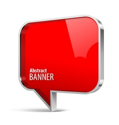 Shiny gloss red plastic banner vector image vector image