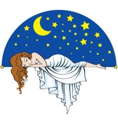 sleeping lady vector image vector image